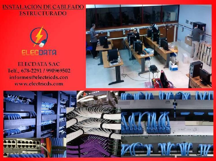 Instalación de cableado estructurado 990969502som para