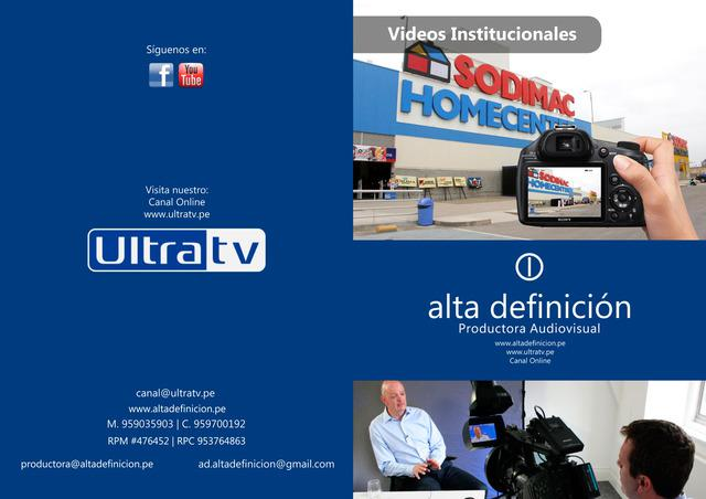 Lima videos institucionales hd | edición de videos hd