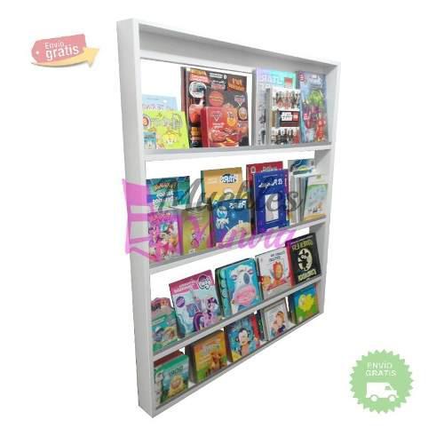 Librero - estante para libros blanco - melamina