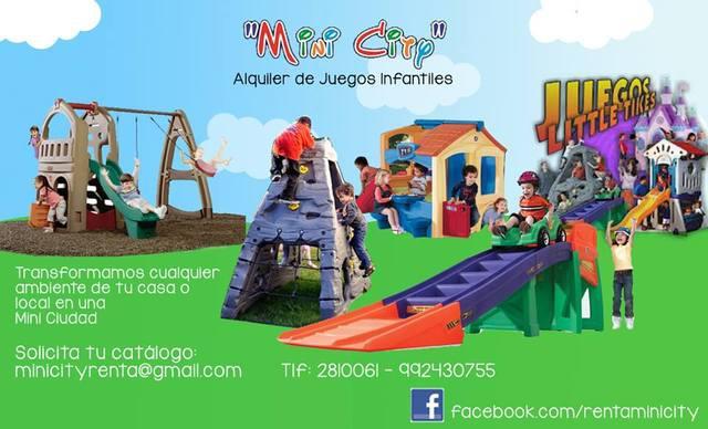 Mini city alquiler de juegos infantiles little tikes