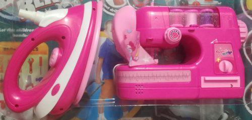 Máquina de coser + plancha ropa juguete infantil niña