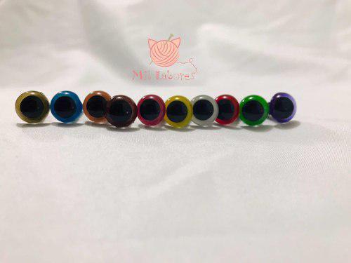 Ojos de seguridad de colores p/amigurumis 9mm