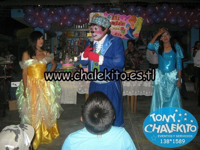 Payasito chalekito y su show infantil de las princesas para