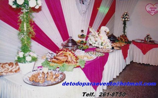 Servicio de buffet para 15 años, matrimonios,bautizos,etc.