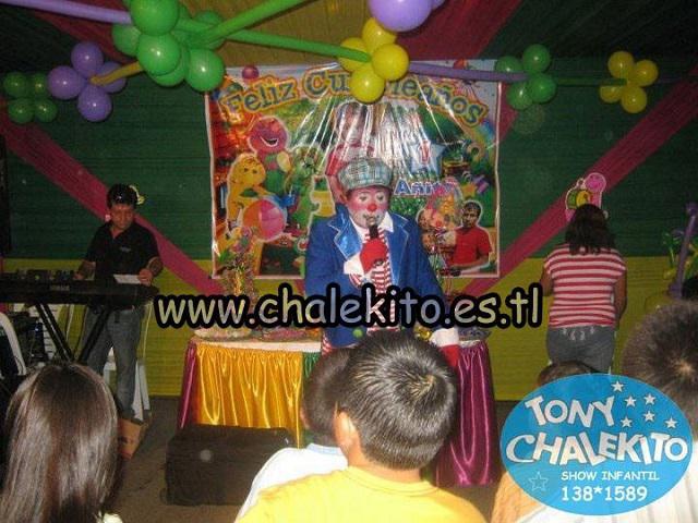 Show infantil de barney y sus amigos con chalekito el
