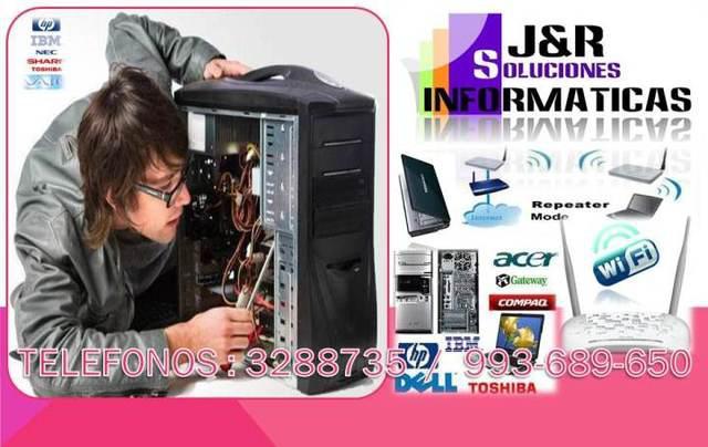 Servicio tecnico a pc laptops configuracion wifi,routers,a