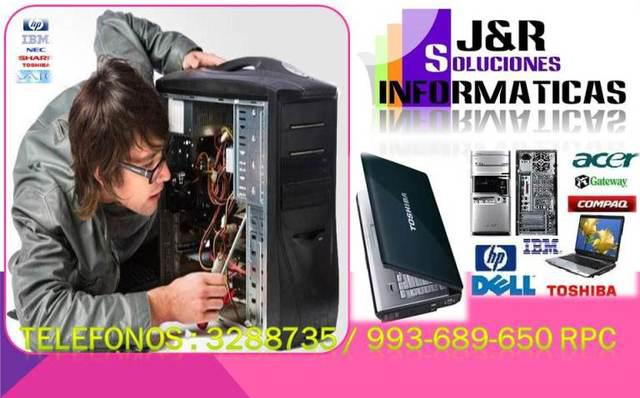 Servicio tecnico a computadoras,laptops,redes cabinas