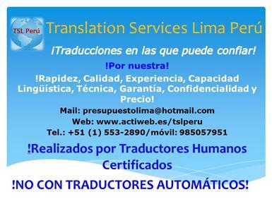 Servicios de traducción e interpretación de alta calidad y