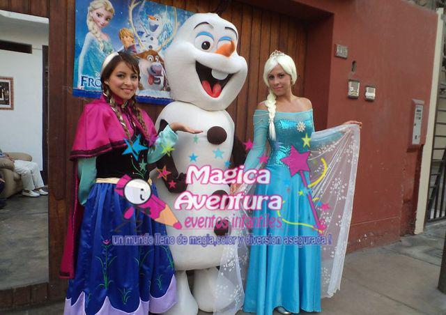 Show de frozen y princesas disney solo con magica aventura