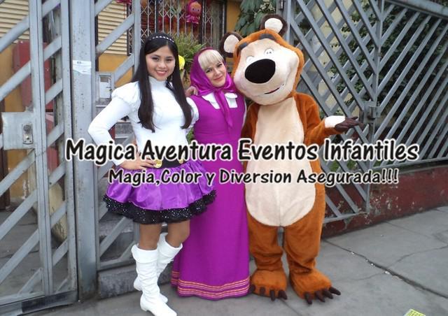 Shw infantil de masha y el oso con magica aventira eventos