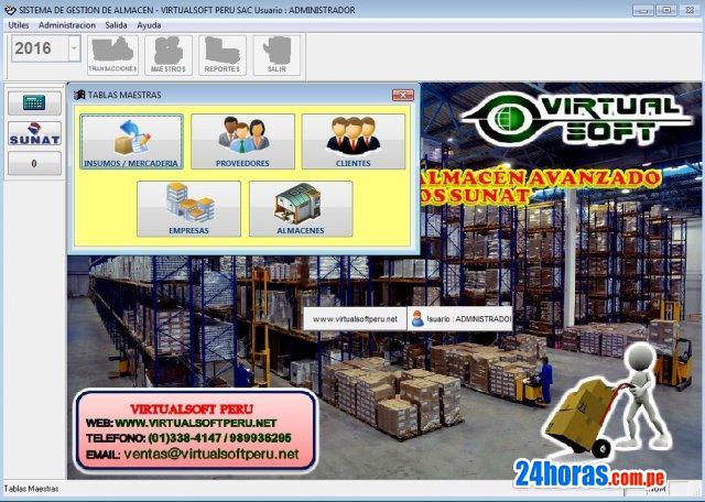 Sistema software de almacen inventarios avanzado sunat