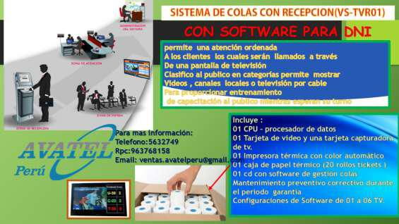 Sistemas de colas para recepción y tv en cusco