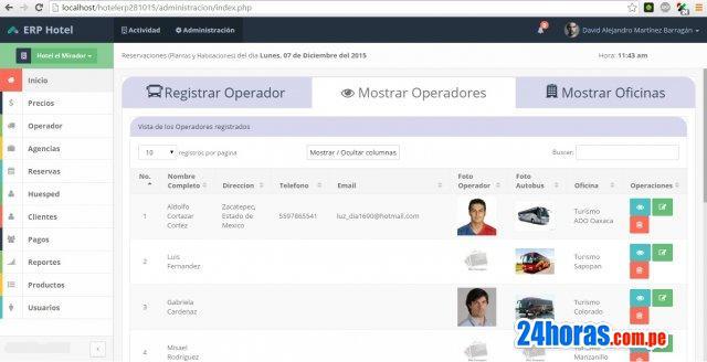 Software hotelero, sistema hotel, hostal, gestion online