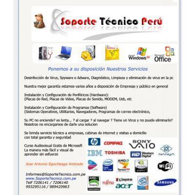 Soporte tecnico de pc a domicilio: lince (av.petit