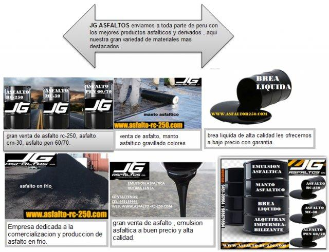 venta y distribucion de asfaltos puesto en obra