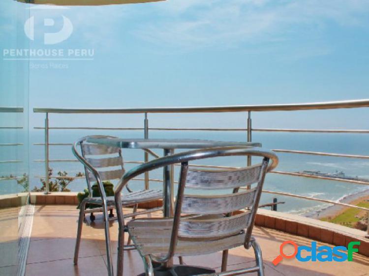 Departamento en alquiler con vista al mar frente a larcomar miraflores amoblado con terraza 3 dormitorios