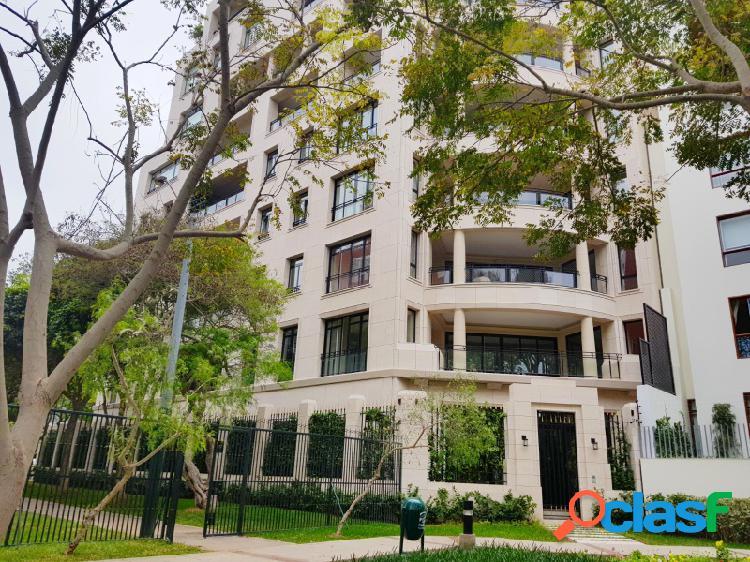 Departamento en venta en san isidro estreno flat 4 dormitorios lujoso frente a parque