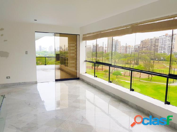 Departamento en venta en san isidro exclusivo vista golf 3 dormitorios terraza