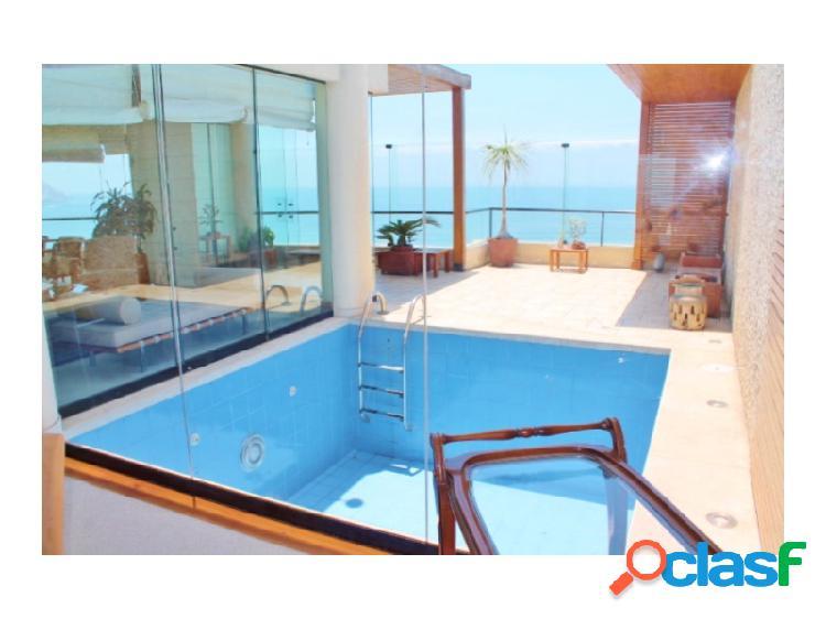 Exclusivo penthouse en venta en miraflores - piscina propia con vista al mar