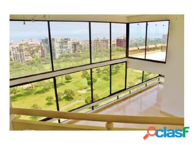 Penthouse en alquiler san isidro - vista al golf mar 5 dormitorios piscina terraza