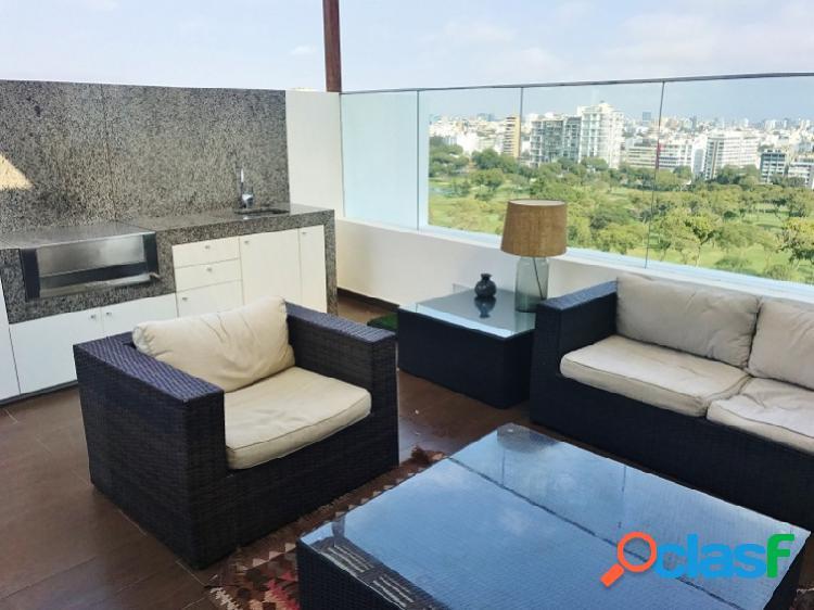 Penthouse en venta en san isidro - hermosa vista golf piscina terraza 3 dormitorios