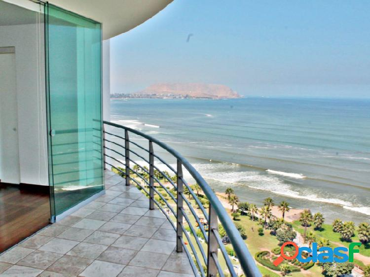 Departamento en Alquiler en Miraflores, Bellisimo con Vista al Mar 3 dormitorios terraza