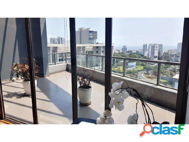 Exclusivo penthouse en venta en miraflores vista a la ciudad y mar