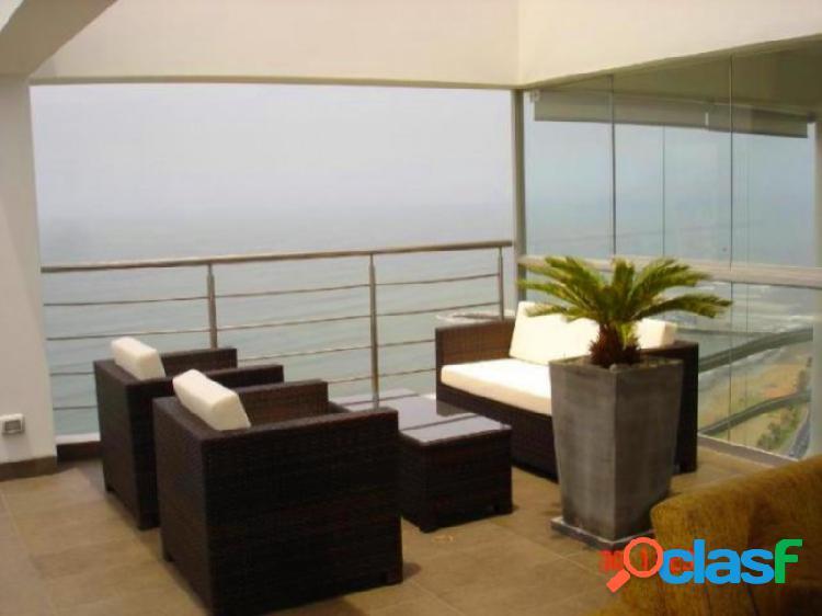 Penthouse duplex en venta enmalecon de miraflores - de lujo vista al mar terraza piscina