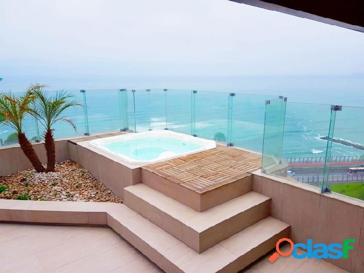 Penthouse en venta en miraflores exclusivo vista al mar terrazas 4 dormitorios