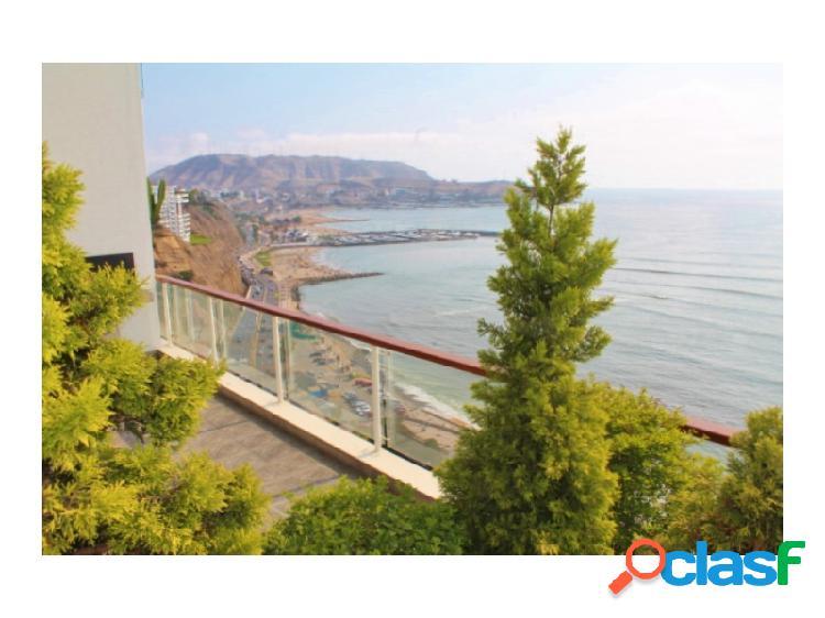 Departamento en alquiler en barranco vista al mar acantilado 3 dormitorios terraza escritorio estar piscina