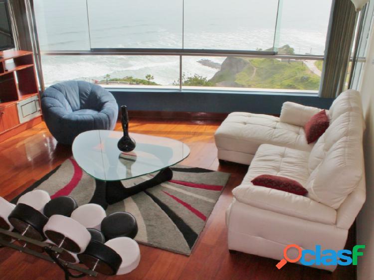 Departamento en alquiler en miraflores 3 dormitorios vista al mar amoblado hermoso y exclusivo