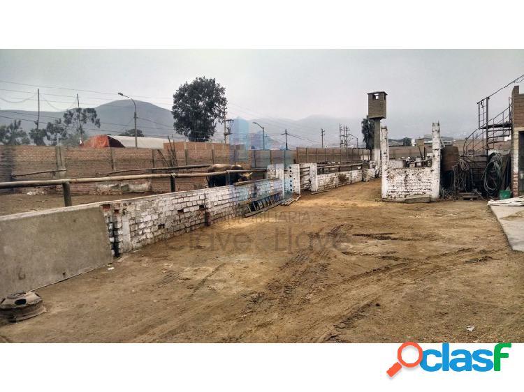 Terreno en venta en puente piedra - ensenada 3 frentes - 3 frentes