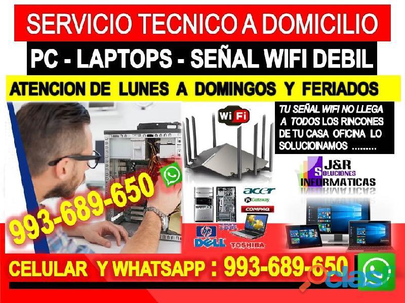 Tecnico de internet pcs laptops formateos a domicilio