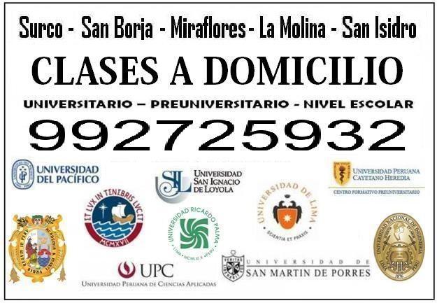 Clases de matematicas cel:992725932 uni secundaria pre a