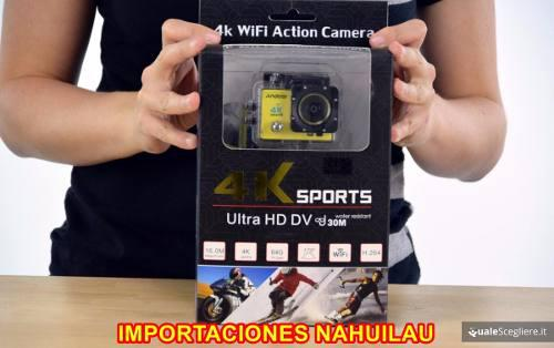 Camara acuatica acción 4k 16 mp wifi acuatico deportes