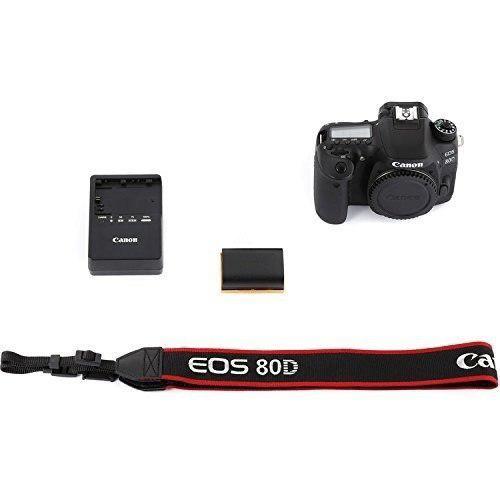 Canon eos 80d paquete de cámara digital slr (sólo cuerpo)