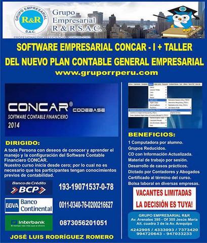 Concar, clases de concar, concar empresarial, concar 2015