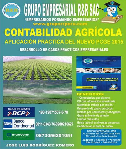 Contabilidad agricola, agraria, agricola, ganadera,