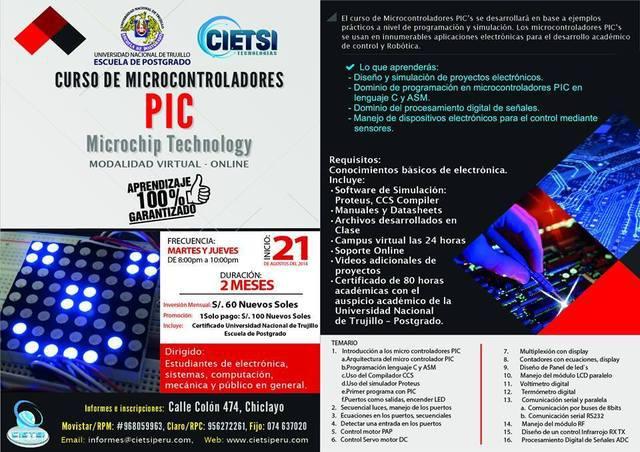 "Curso online microcontroladores pic's - ""microchip"
