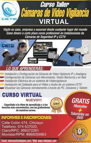 Curso taller cámaras de vídeo vigilancia – virtual off