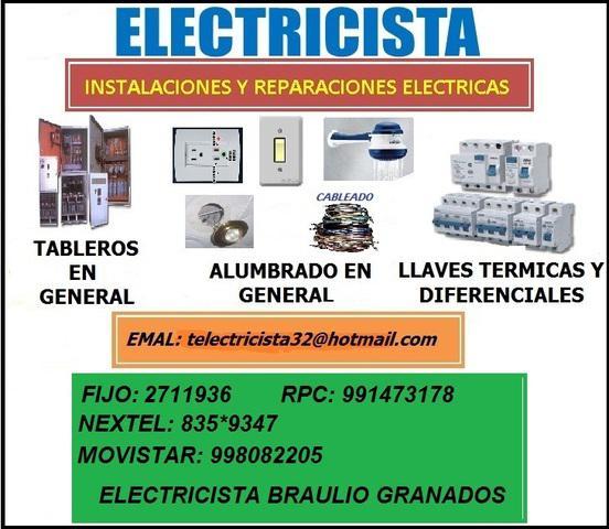 Damos garantia y constancias de trabajos electricos en