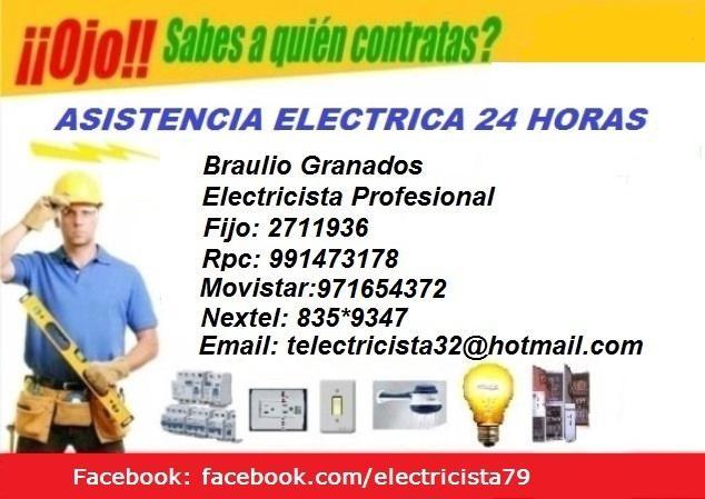 Electricista asistencia 24 hs_ surco - barranco -miraflores