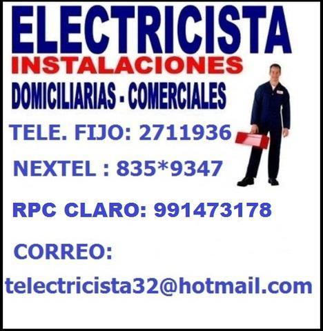 Electricista domicilio lima seguridad