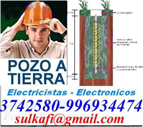 Electricistas - electronicos, pozo a tierra, alarmas,