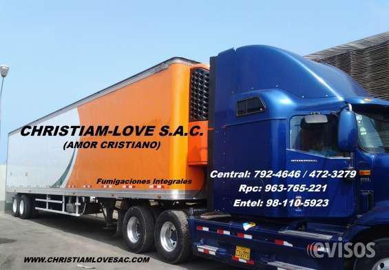 Fumigaciones para furgonetas, camiones, trailers,