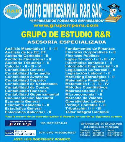 GRUPO DE ESTUDIO RR, CONTABILIDAD, COSTOS, TRIBUTACION,