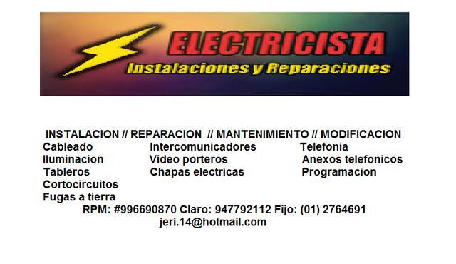 Iluminación // tableros electricos (la molina)