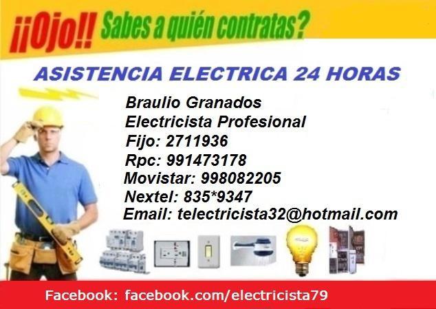 Instalaciones eléctricas// según defensa civil