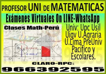 Profesor uni de matematicas – a universitarios y pre