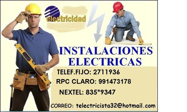 Pueblo libre electricista domicilio conexiones